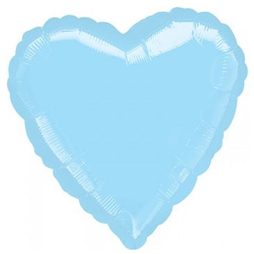 Pearl Pastel Blue Heart Foil Balloon