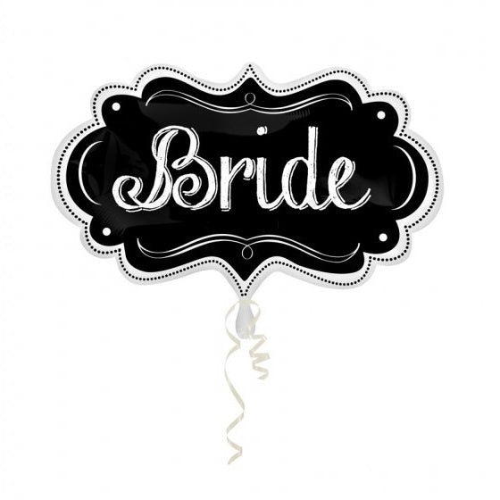 Bride Chalkboard Marquee SuperShape Foil Balloon