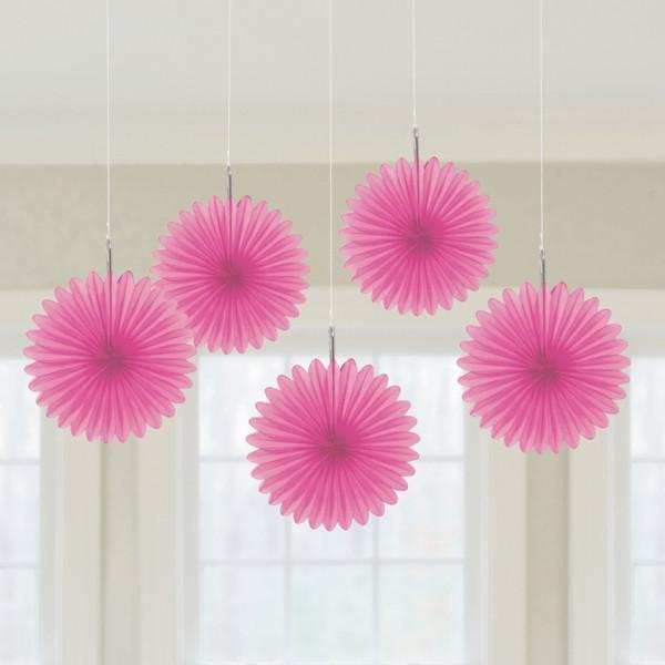Pink Hanging Fan Decorations