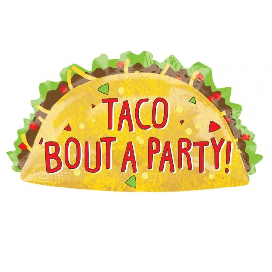 Taco Party SuperShape Foil Balloon