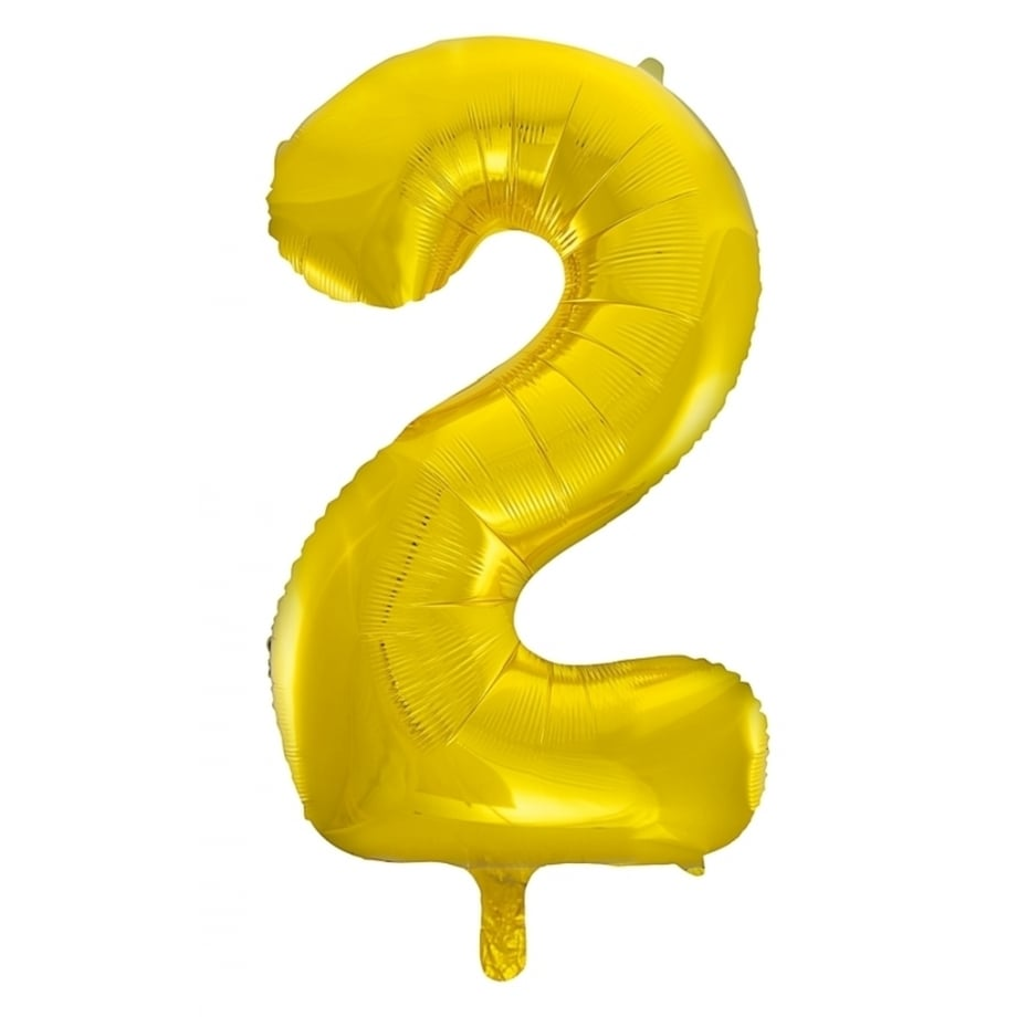 Giant Gold Number Foil Balloon - 2