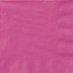 Hot Pink Napkins - Lunch