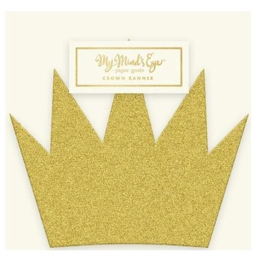 Mini Gold Crown Banner