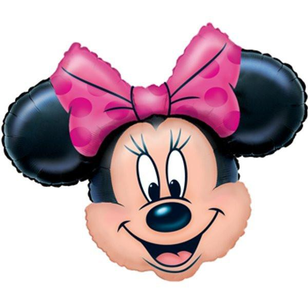 Minnie Mouse Head Foil Balloon