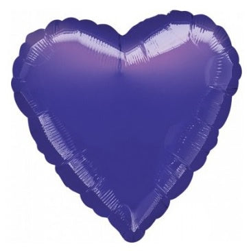 Metallic Purple Heart Foil Balloon