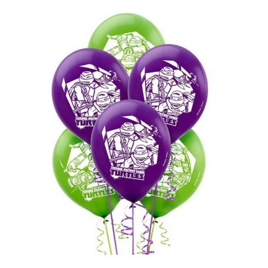 Teenage Mutant Ninja Turtles Balloons - Pack of 6