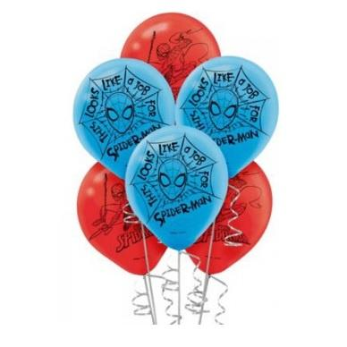 Spiderman Webbed Balloons - Pack of 6
