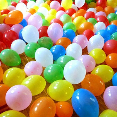 200 Air Inflated Latex Balloons