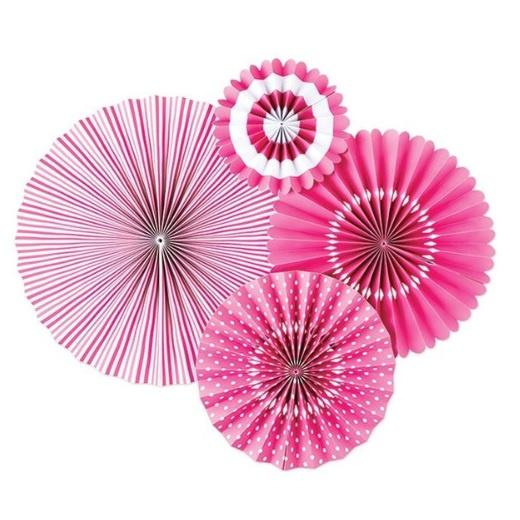 Paper Love Party Fans - Bubblegum Pink