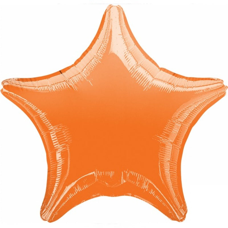 Metallic Orange Star Foil Balloon