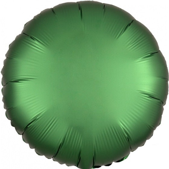 Satin Luxe Emerald Green Round Foil Balloon