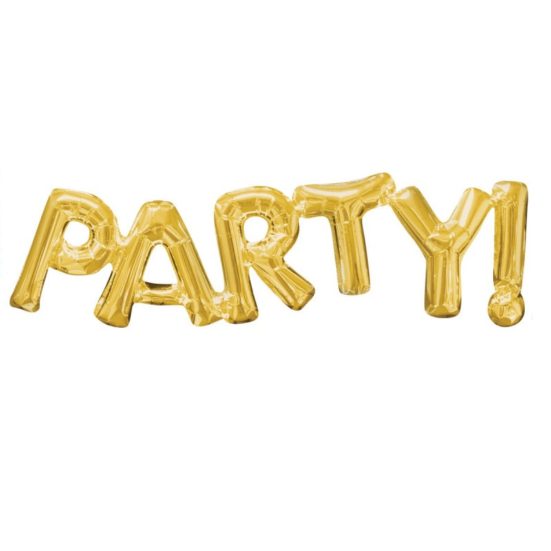 Gold Foil Balloon Banner Phrase - Party
