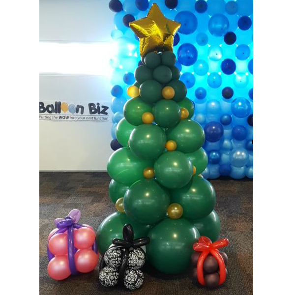 Christmas Tree Balloon Column
