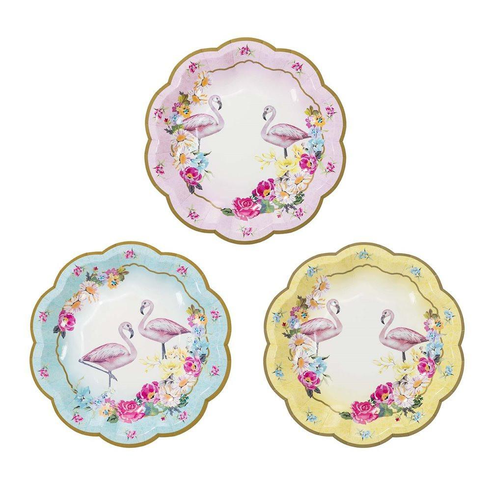 Truly Flamingo Plates - Lunch