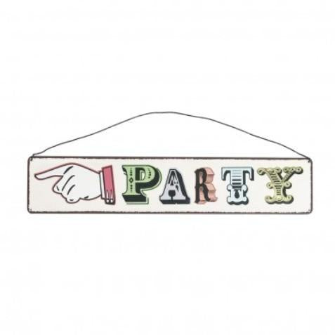 Tin Party Sign Hire
