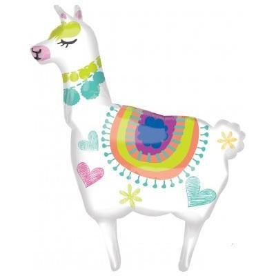 Llama SuperShape Foil Balloon