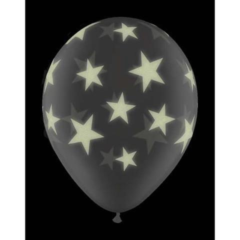 Diamond Clear Glow Stars Balloon