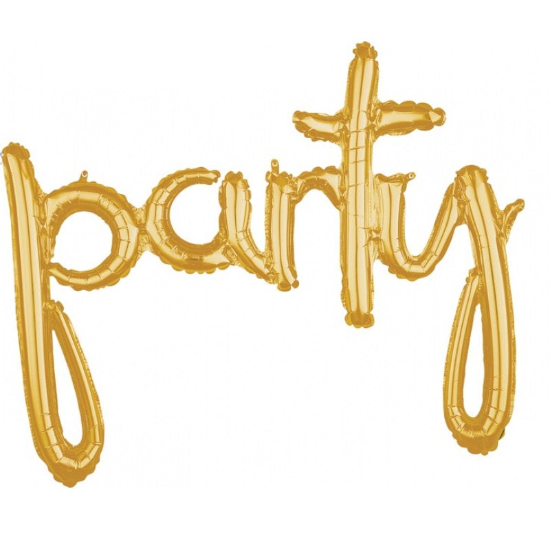 Gold Script Foil Balloon Banner Phrase - Party