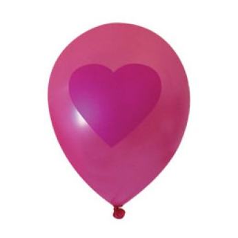 Single Pink Heart Balloon