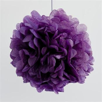 Violet Purple Tissue Pom Pom
