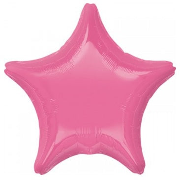 Rose Pink Star Foil Balloon