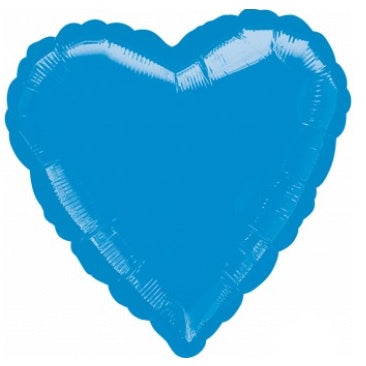 Metallic Blue Heart Foil Balloon