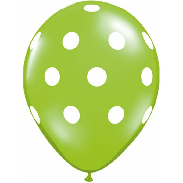 Green Polka Dot Balloon