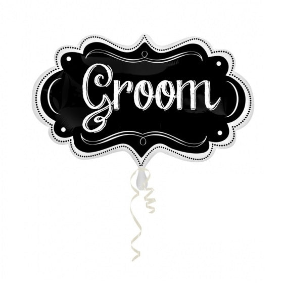 Groom Chalkboard Marquee SuperShape Foil Balloon
