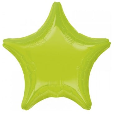 Kiwi Green Star Foil Balloon