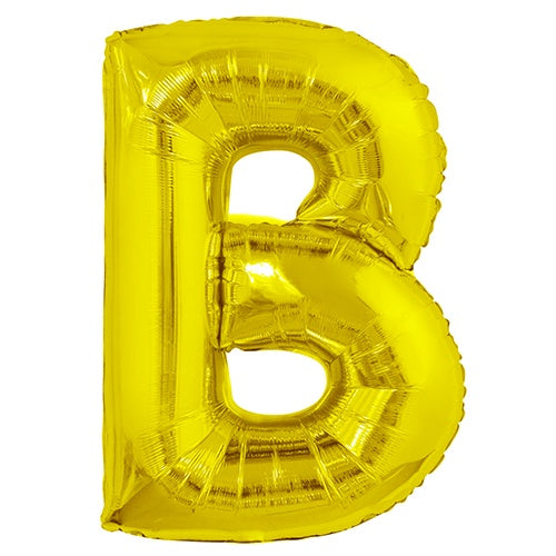 Giant Gold Letter Foil Balloon - B