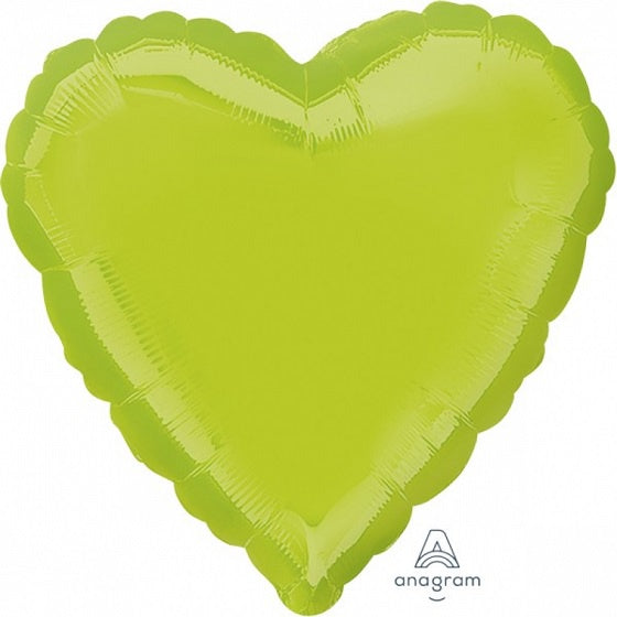 Kiwi Green Heart Foil Balloon