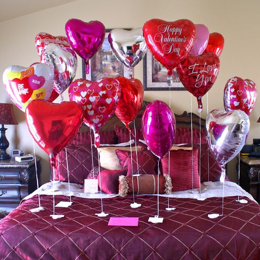 Pimp the Bed Valentines Balloon Package