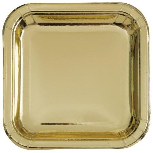 Metallic Gold Plates - Lunch