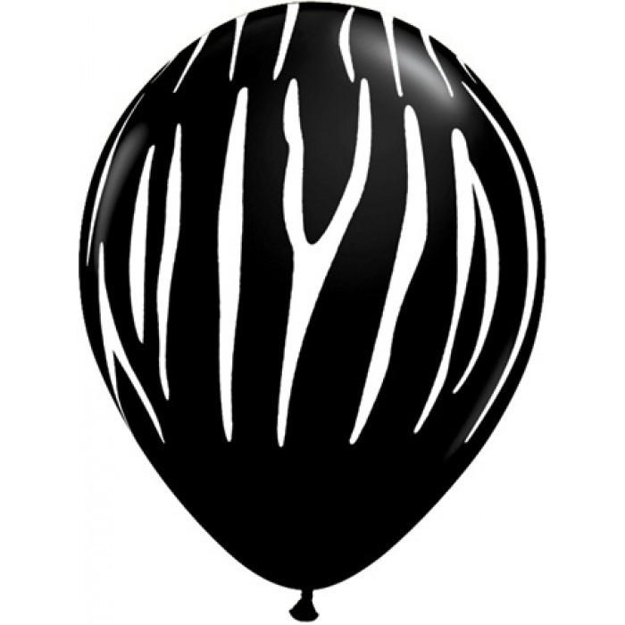 Black Zebra Print Balloon
