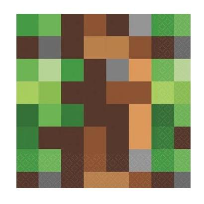 Minecraft TNT Napkins - Lunch