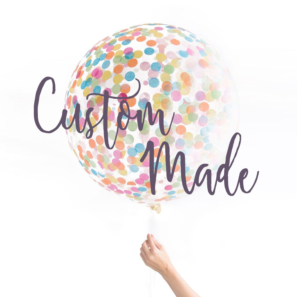 Custom Made Confetti Balloon Kit - 90cm