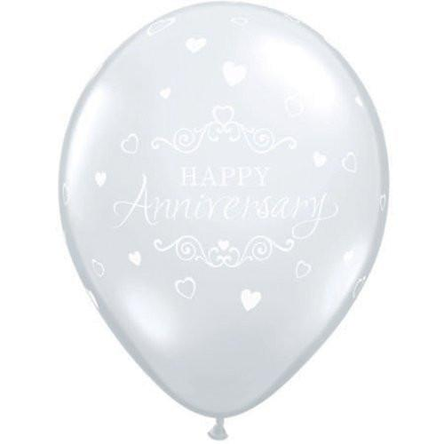 Clear Happy Anniversary Balloon