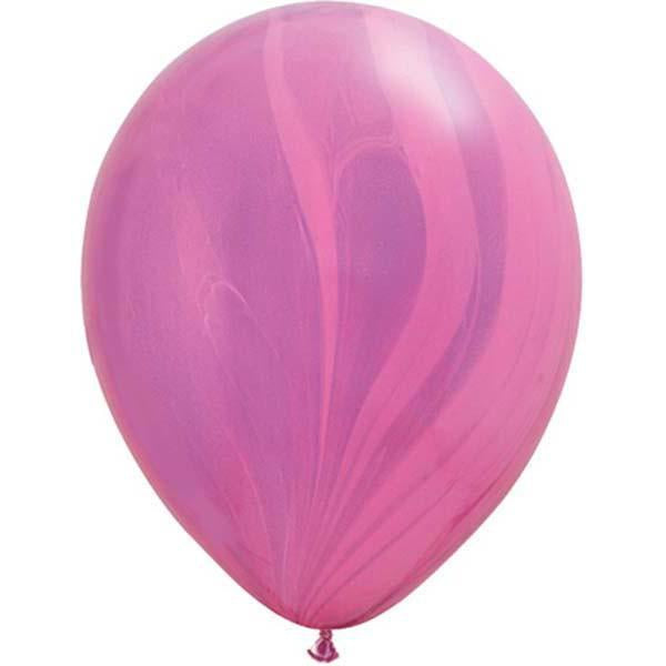 Pink Violet Marble Balloon