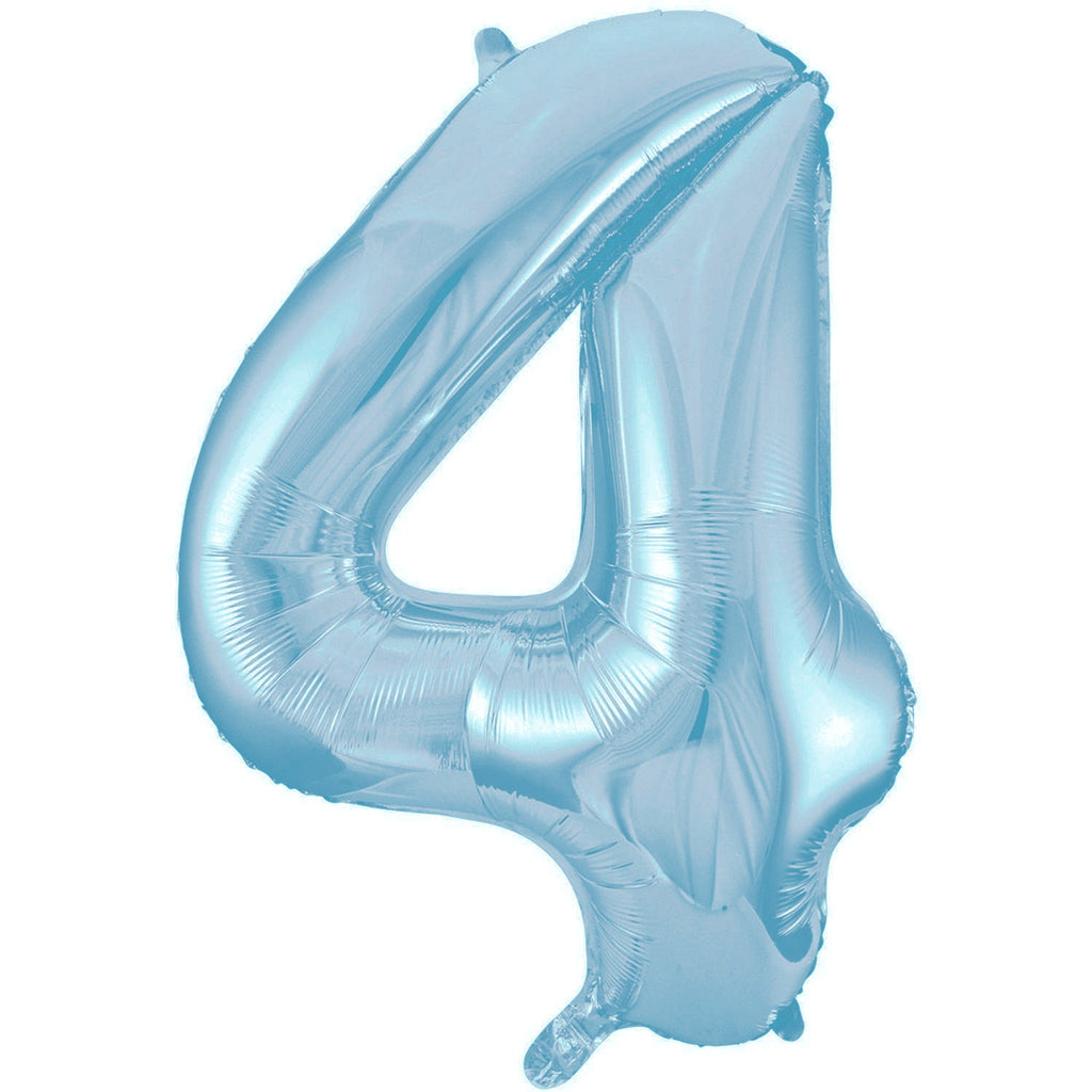 Giant Powder Blue Number Foil Balloon - 4
