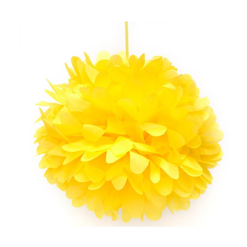 Canary Yellow Tissue Pom Pom