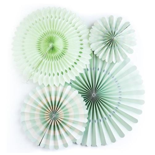 My Minds Eye Basics Party Fans - Mint