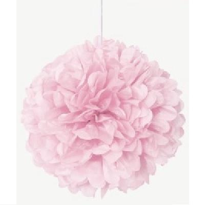 Lovely Pink Tissue Pom Pom