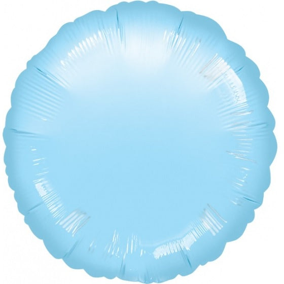 Pearl Pastel Blue Round Foil Balloon
