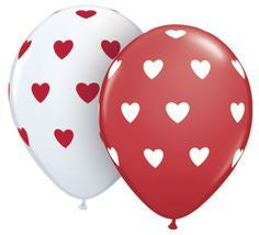 Red & White Heart Balloon