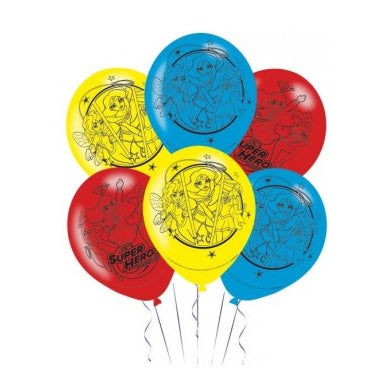 Super Hero Girls Balloons - Pack of 6