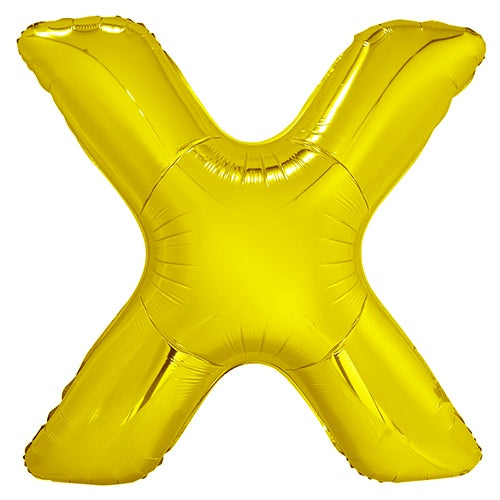 Giant Gold Letter Foil Balloon - X