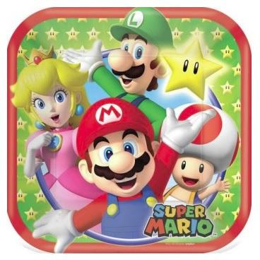 Super Mario Brothers Plates - Lunch