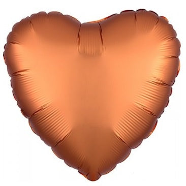 Satin Luxe Amber Heart Foil Balloon