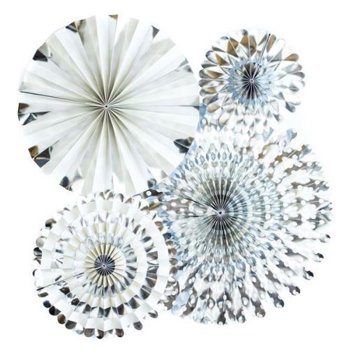 My Minds Eye Basics Party Fans - Silver