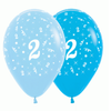 6 Pack Age 5 Balloons - Blue & Royal Blue